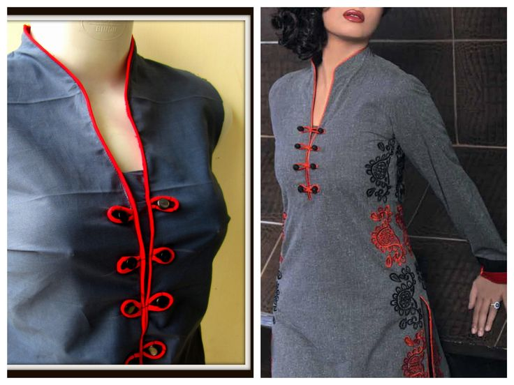 Stand Collar Kurti Designs : Images about sewing videos on pinterest how to