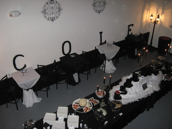 7 Best Black And White Party Atlanta Images On 1940s Decoration Centerpiece