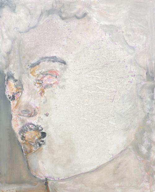Marlene Dumas (South African/Dutch, b. 1953), Crying in Public, 2008. Oil on canvas, 130 x 110 cm.