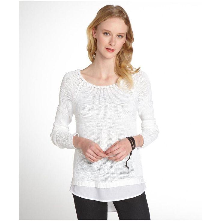 women-s-white-contrast-hem-sweater