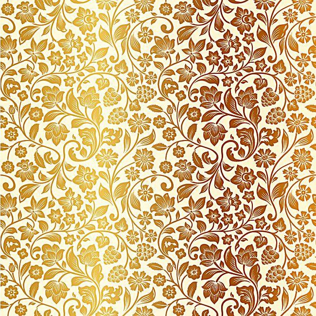 Atmospheric Gold Pattern Background Vintage Floral Pattern Background Patterns Floral Pattern Vector