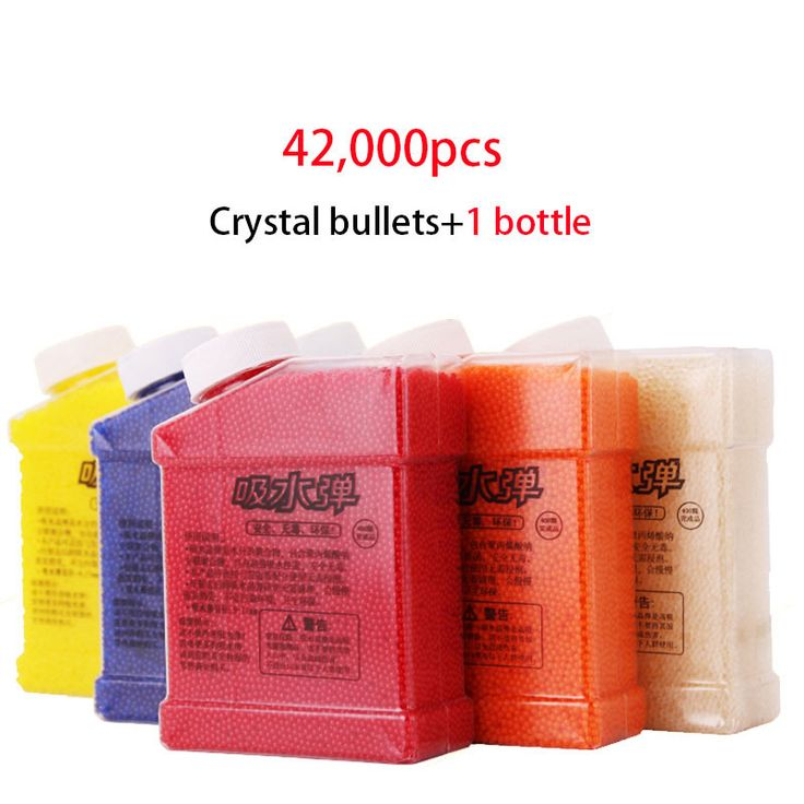 42000Pcs Color Crystal Paintball Soft Bullets With Bottle Toy Gun Accessories Color Orbeez Crystal Mud For Nerf Toy Gun