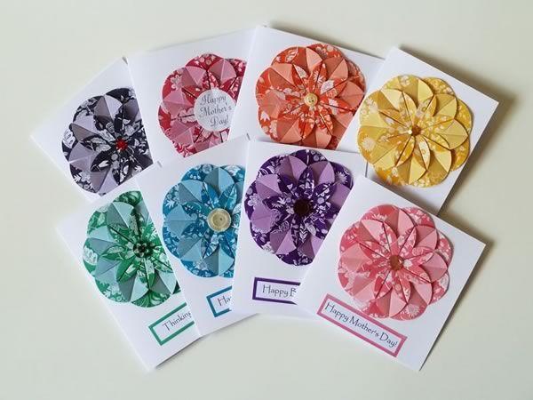 Origami flower card gallery flower decoration ideas 93 best dahlia fold flower cards images on pinterest flower cards simple homemade 3 d card mightylinksfo