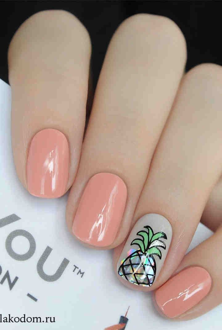 80 Cute Short Nails Design Ideas For Spring Summer Square Round Oval Nails In 2020 Summer Nails Summer Nails 2018 Nail Designs Summer