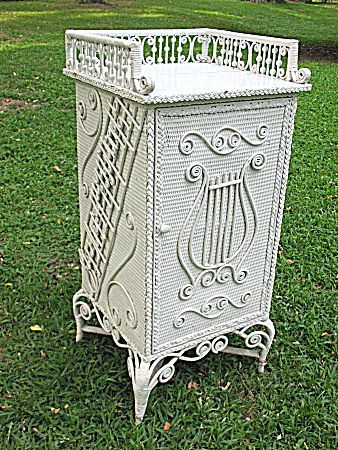 Rare Ornate Victorian Wicker Sheet Music Stand Heywood Brothers and Wakefield Company - Found on Ruby Lane
