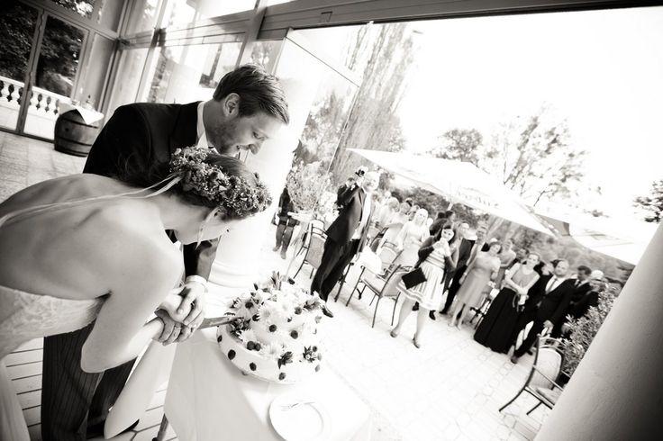 Anschneiden der Hochzeitstorte #brautpaar #wedding #hochzeitsfoto #schlosshotelgroßplasten