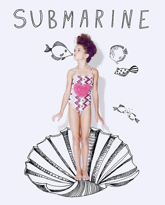Illustrations by Katy Smail #girls #swimwear