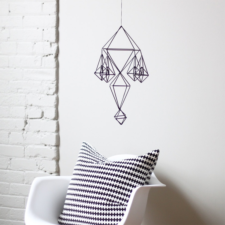 SALE himmeli no. 11 / hanging mobile / modern geometric sculpture. $50.40, via Etsy.