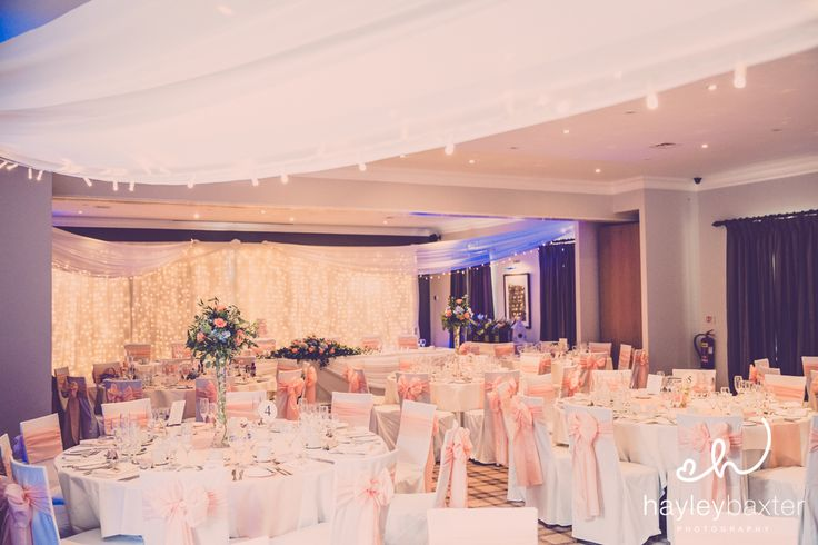 Pink Decor with Fairy Lights in the Bannister Suite for our beautiful Bride
