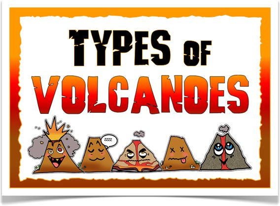 Types of Volcanoes - Treetop Displays - A set of 8 A4 posters giving information about different types of volcanoes. Includes: title page, explanatory page, active, dormant, extinct, composite, shield and cinder cones. Posters are illustrated with volcanic characters! Visit our website for more information and for other printable classroom resources by clicking on the provided links. Designed by teachers for Early Years (EYFS), Key Stage 1 (KS1) and Key Stage 2 (KS2).