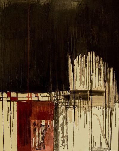 Life & Death - Mixed Media & Encaustic on canvas.  www.vasilisangelopoulos.com