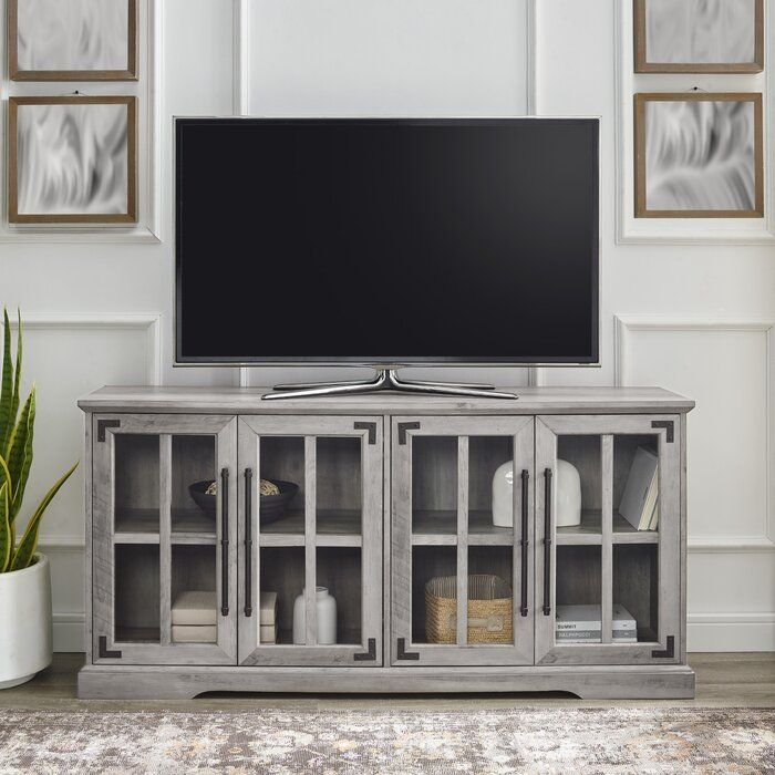 Gracie Oaks Dougan Tv Stand For Tvs Up To 65 Reviews Wayfair In 2020 Tv Stand Tv Stand Decor Living Room Tv Stand