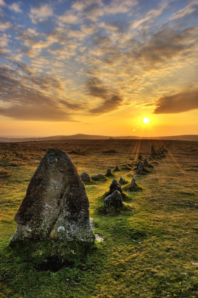"""""""From stone rows to old settlements, cairns, hut circles and remains from several centuries of tin mining, humankind's relationship with this picturesque part of Dartmoor National Park is written all over the landscape. Boasting the largest concentration of Bronze-Age spoils in the UK, historians believe that the moorlands up here were once among the country's most populous."""" #wildernessweekends www.bradtguides.com"""