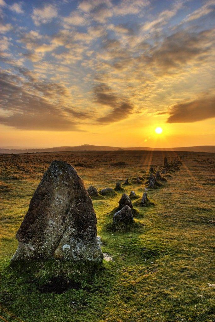 Druid Stones Dartmoor by Gillian Moore