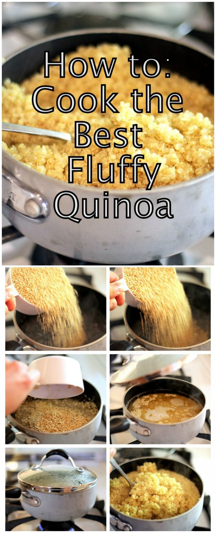 How To Cook The Best Fluffy Quinoa Over The Stove! Vegetarian