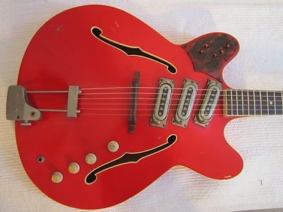 Vintage 1960s Framus Atlantic Cherry Red Hollowbody Electric Guitar Beautiful  ebay: Vintage 1960s Framus Atlantic Cherry Red Hollowbody Electric Guitar Beautiful