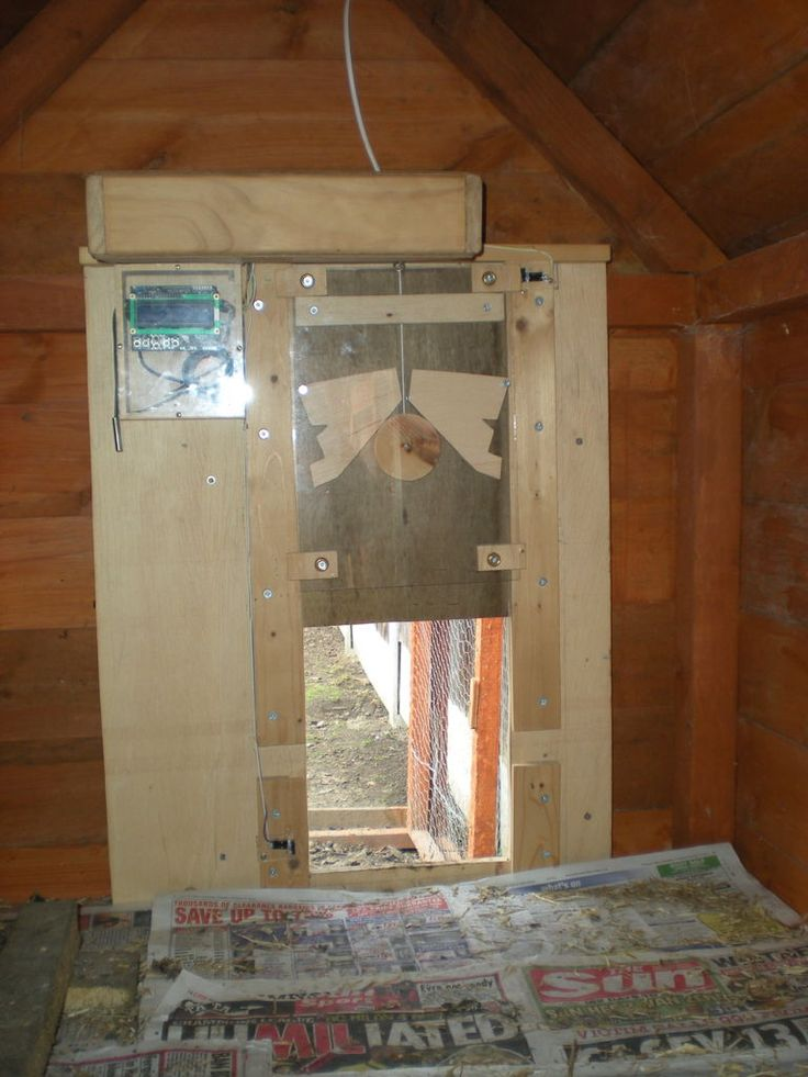 Homemade Automatic Arduino Chicken Coop Door Opener And