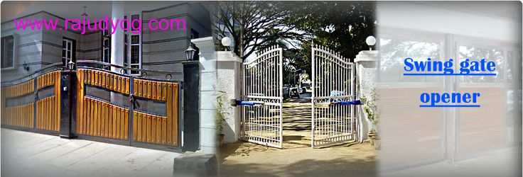 If you are looking for swing gate opener for your home RAJUDYOG is the perfect place. For more enquiry - 91-80-23372117,rjudyog676@gmail.com