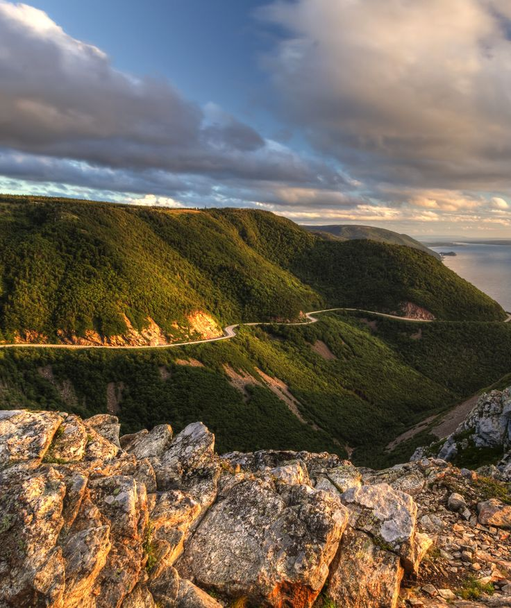 Cape Breton Highlands National Park is known for its spectacular highlands and ocean scenery.