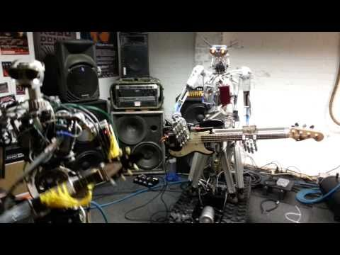 """The robot band Compressorhead performs a rocking version of """"Ace of Spades"""" by Motörhead. via Pewpewpew, Nerdcore"""