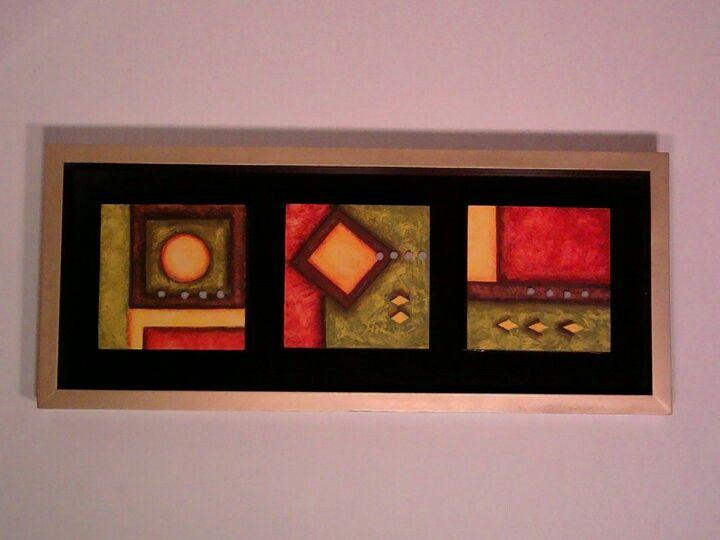Cuadro abstracto en acrílico. #buyart #cuadrosmodernos #art