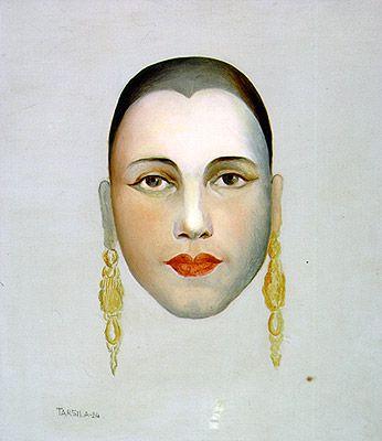 Autorretrato - Self-portrait Tarsila do Amaral  Óleo sobre tela | (1924)  Palácio Boa Vista | Campos do Jordão -   38 x 32,5 cm