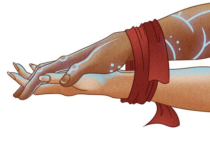 Reminds me of Rowan & Aelin in HOF . Couple Hands Illustration . Bound wedding hands ceremony.