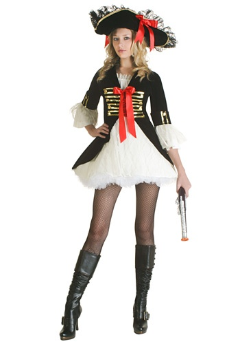 Ladies Sexy Pirate Captain Costume    Product # FUN2115BK    Includes:  Hat  Dress    Our Price:   $48.99