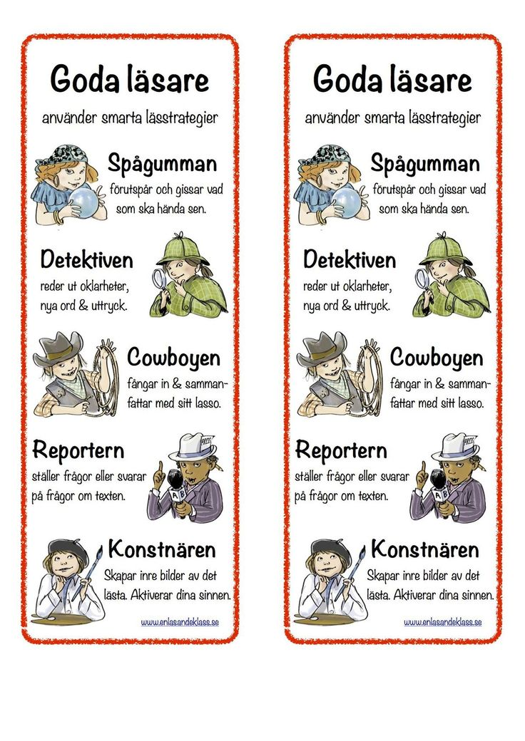 Fem lässtrategier att använda i samband med bokläsning med klassen.