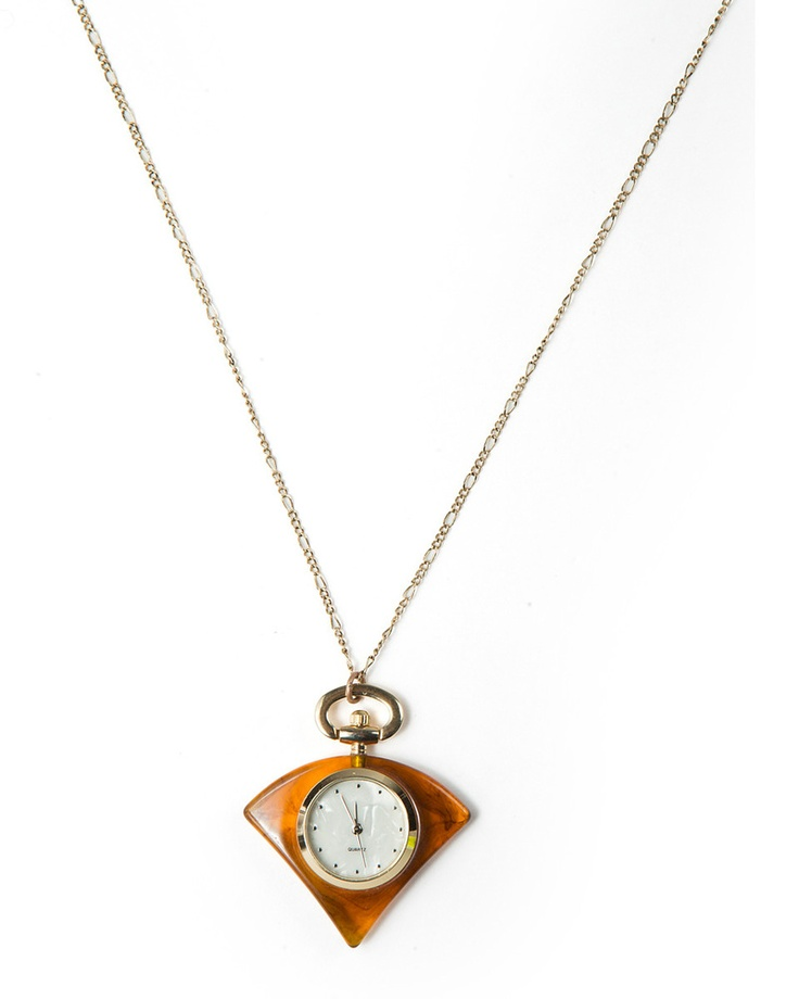 Would you like to wear a clock? Here is one for you to try.... a tortoise Watch Pendant from JewelMint