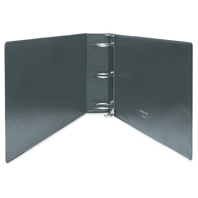 Universal Legal-Size Round Ring Binder with Label Holder, 3 Capacity, 11 x 17, Black