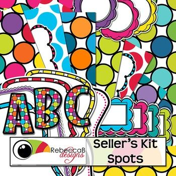 Seller's Kit Spots is modern, bright and fun with plenty of colorful elements for sellers to create amazing product covers. Place a border or frame over a bold, spotty background, add a label or header and finish it off with a stand-out title using the Spotty alphabet letters.