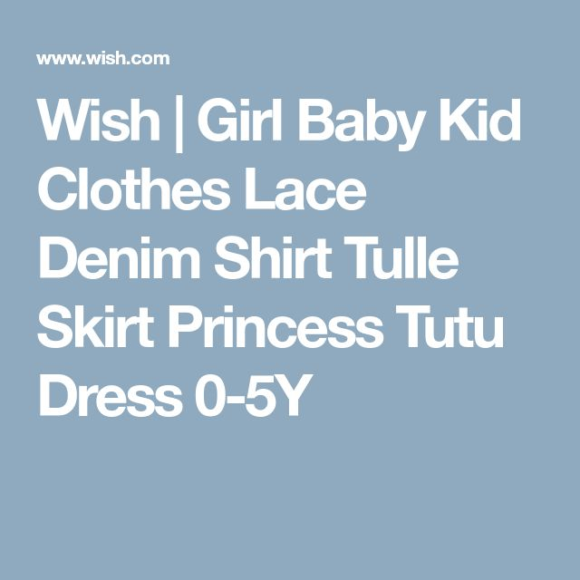 Wish | Girl Baby Kid Clothes Lace Denim Shirt Tulle Skirt Princess Tutu Dress 0-5Y