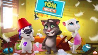 Talking Tom Gold Run - Super Tom Vs Super Angela - YouTube