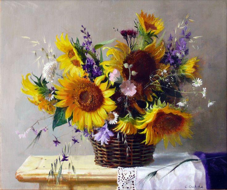 """Sunflowers""- oil, canvas,46/55 sm"