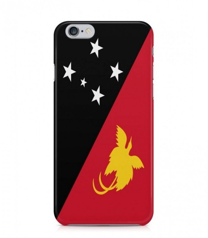 Papua New Guinean or Papuan Flag 3D Iphone Case for Iphone 3G/4/4g/4s/5/5s/6/6s/6s Plus - FLAG-PG - FavCases
