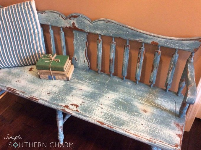 Worn Seat Deacon's Bench | Simple Southern Charm #milkpaint #deaconsbench