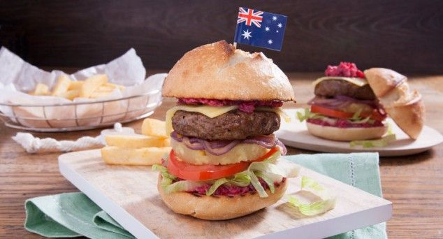 Wrap your mouth around this delicious Aussie Burger! Thanks for the recipe, Erin Made This.  #aussiefood #beetroot #hamburger