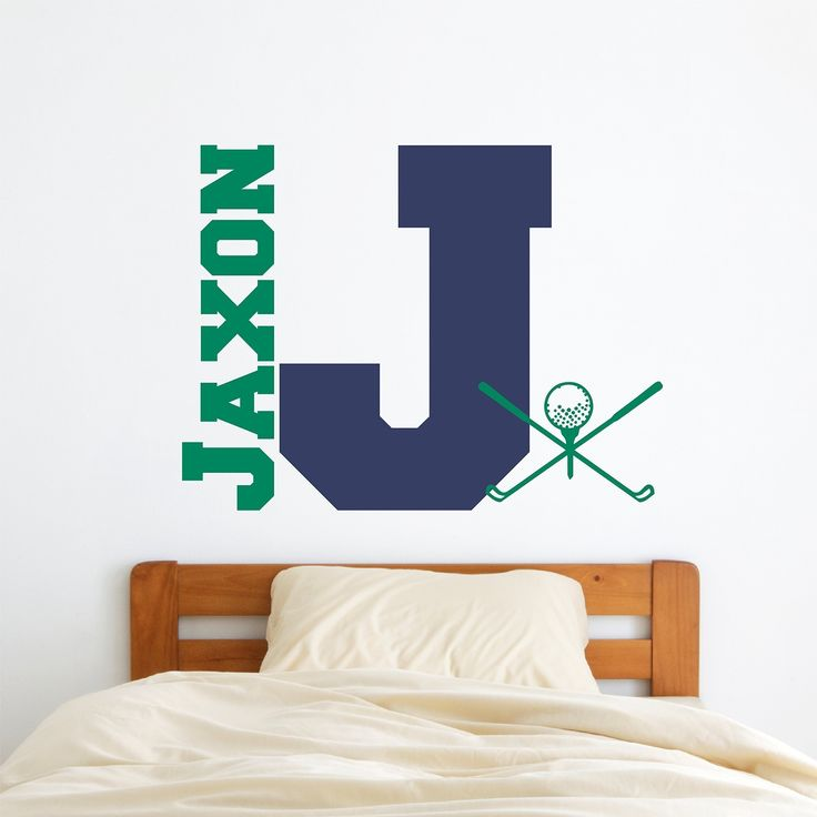 Custom Name Golf Wall Decal   Boys Girls Personalized Name Golf Sports Wall  Sticker   Custom Name Sign   Custom Name Stencil Monogram   Boys Girls Room  Wall ... Part 36