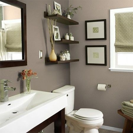 whites or light neutrals provide the perfect backdrop for almost any colour you want to introduce into the bathroom. Bear in mind that lighter colours are better for a small space. http://www.easydiy.co.za/index.php/improve/544-guest-bathroom-facelift