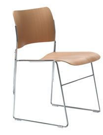 40/4 Classic Wood Stacking Chair .  5 Year Warranty.  Supports up to 250 lbs  100% Recyclable !!