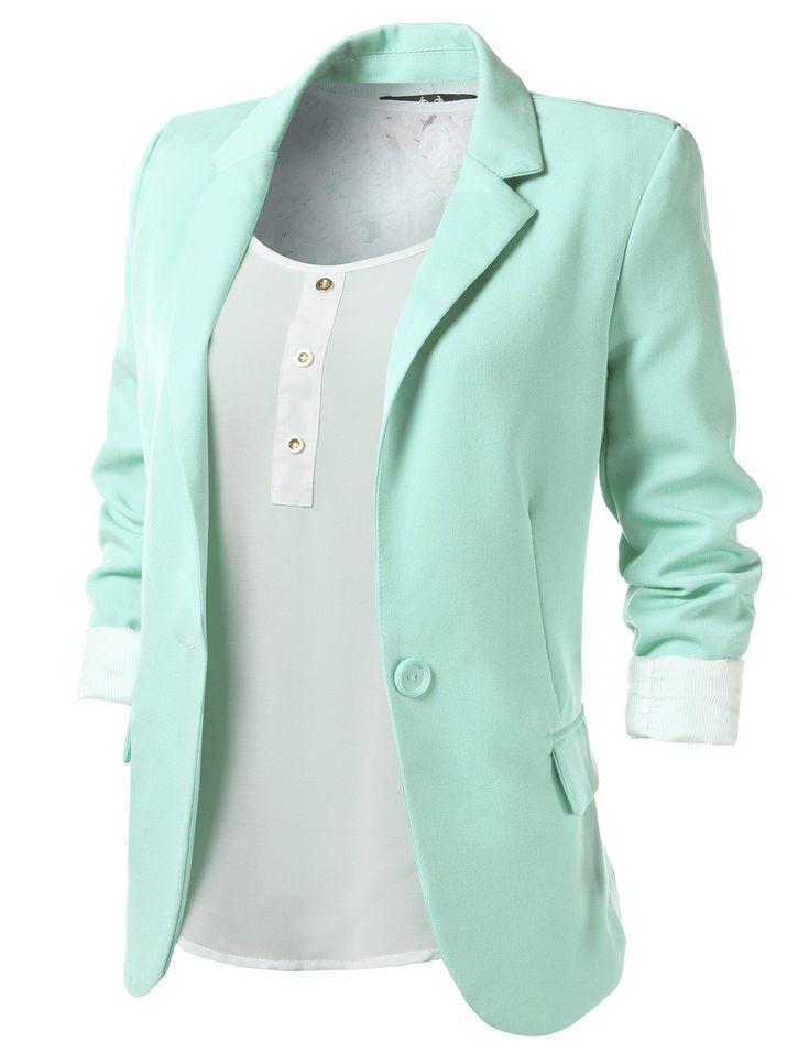 Best 25  Mint blazer ideas on Pinterest | Mint blazer outfit ...