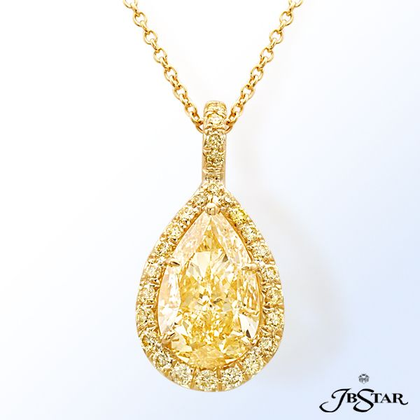 45 best diamond fancy color diamond pendants images on pinterest style 1631 gorgeous fancy light yellow diamond pendant featuring a striking 256ct pear shape aloadofball Image collections