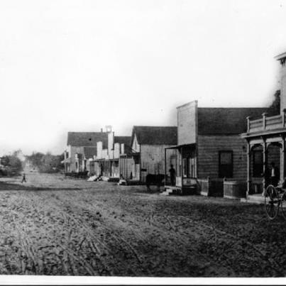 This is... downtown Los Angeles! 1882. I think I see a mule tied up to one of the posts. How cool is this photo?!!: Downtown Los Angeles, Mule Tied, Photo