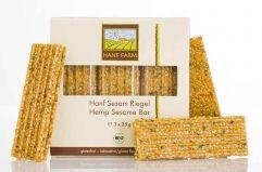 Bio Hanf Sesam Riegel mit Hanf-Nüssen von Hanf Farm #superfood #hanf #hemp #eco #bio #organic