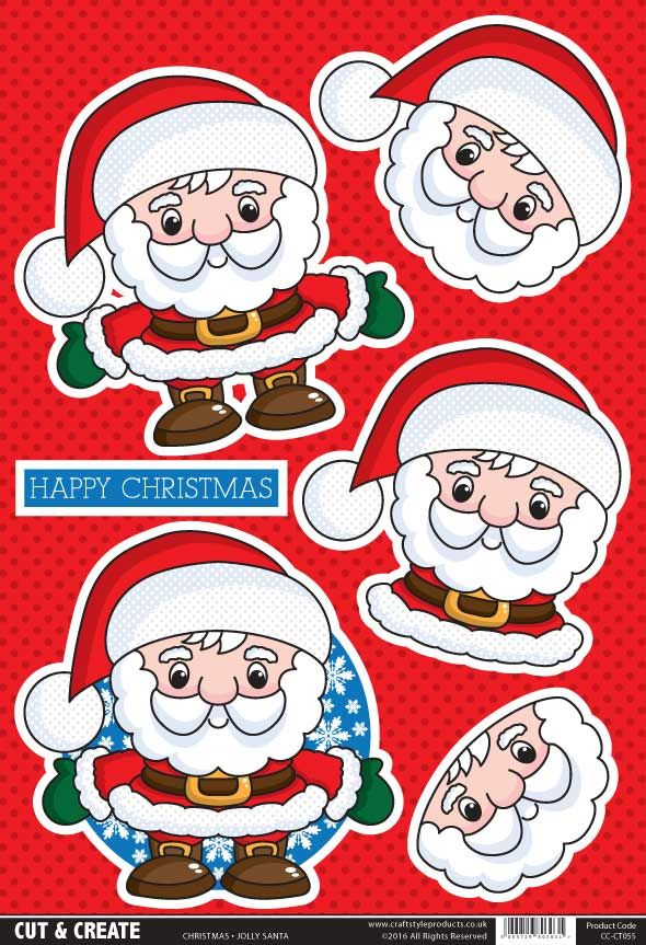 Buzzcraft Christmas Cut & Create - Jolly Santa