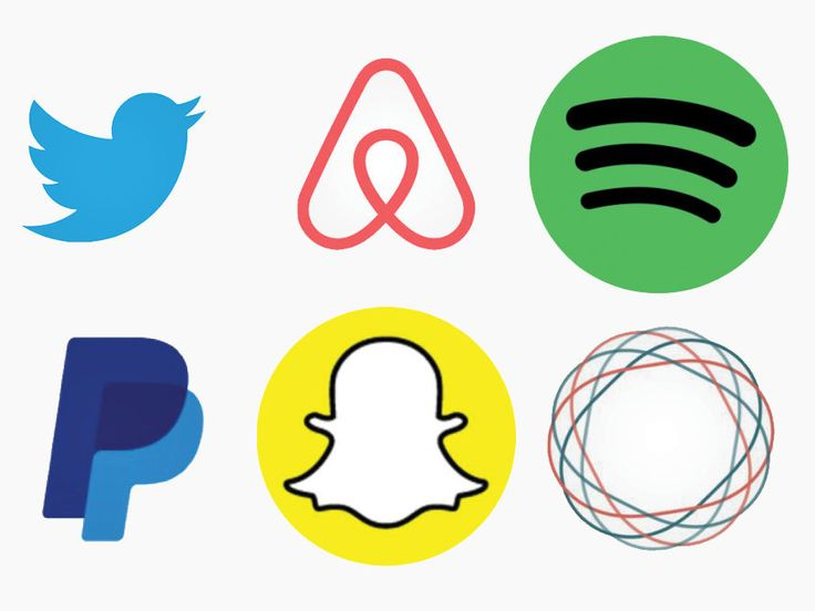 From Airbnb to Snapchat, companies are racing to create sleek, name-free logos that are still instantly recognizable.