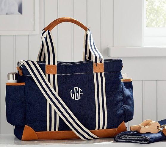 Let's go! Take the PBK Indigo Denim Classic Diaper Bag with you anywhere :)