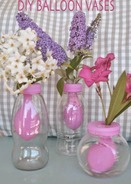 Balloon vase table decorations pinterest diy and
