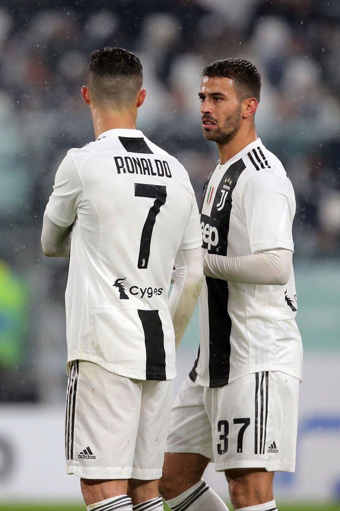 bab4da719 Cristiano Ronaldo #7 of Juventus FC and Leonardo Spinazzola #37 of Juventus  FC during the serie A match between Juventus FC and Parma Calcio 1913 at  Allianz ...